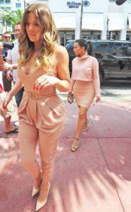 Khloe Kardashian in Elisabetta Franchi Jumpsuit