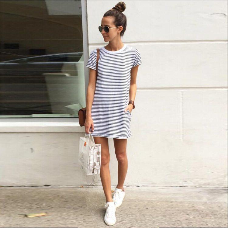 2017-Summer-female-clothing-Women-s-fashion-short-white-striped-mini-font-b-simple-b-font