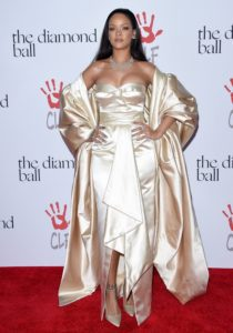 Rihanna on the Red Carpet at the Second Annual Diamond Ball in a Dior Haute Couture Gown in Santa Monica California -- Getty Images