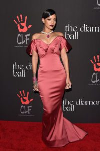 Rihanna on the Red Carpet at the First Annual Diamond Ball in Beverly Hills, California --Photo by Jason Merritt/Getty Images