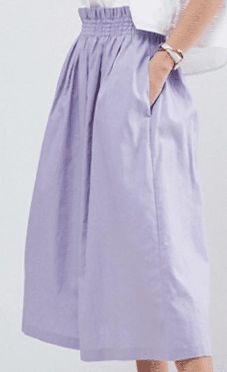 lavender skirt spring trends 2018