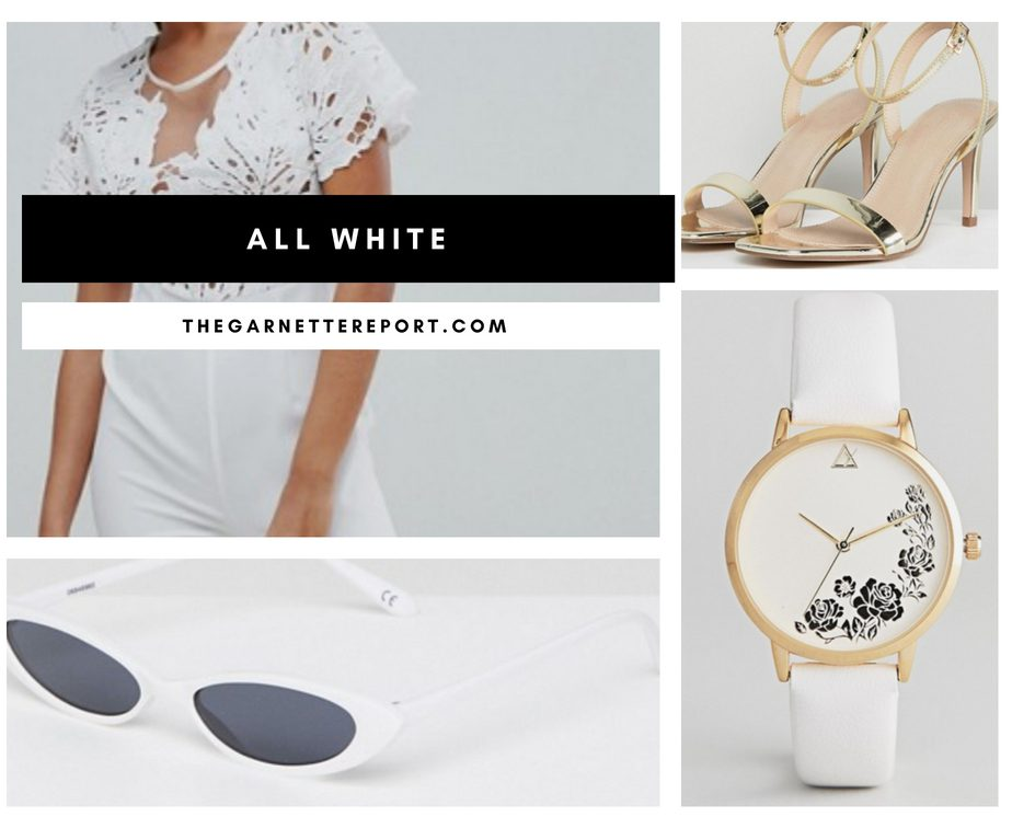 ASOS Summer fashion trend moodboard all white