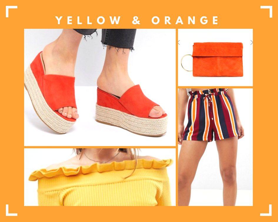 summer fashion trends yellow orange asos