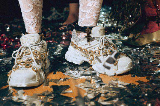 Gucci's $1,590 Jewel-Covered SEGA Sneaker for FW18