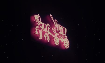 Coach Logo in Neon Lights