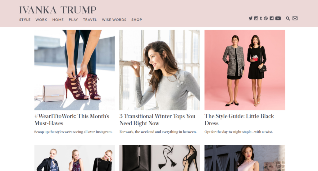 Ivanka Trump's Website