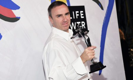 Raf Simons (photo by: Evan Agostini/Invision/AP)