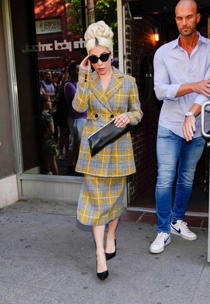 Lady Gaga three outfits one day