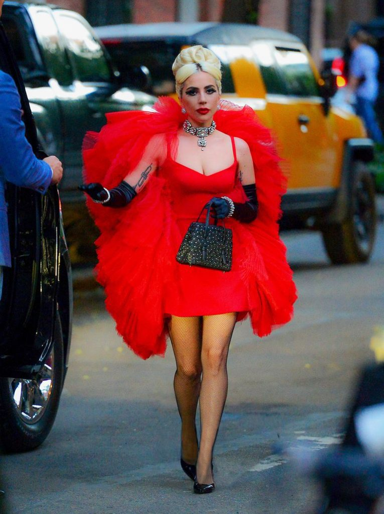 Gaga wears three different outfits