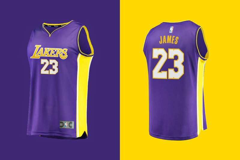 sports shoes 687a9 0a8bf LeBron James's L.A. Lakers Jersey Sells At Record Pace | The ...