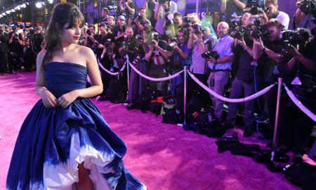 'Artist Of The Year' Camila Cabello in Oscar de la Renta and Chopard jewelry