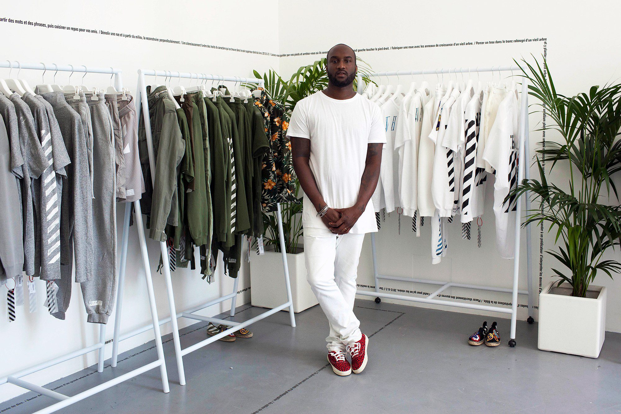 Abloh and his namesake, Off-White