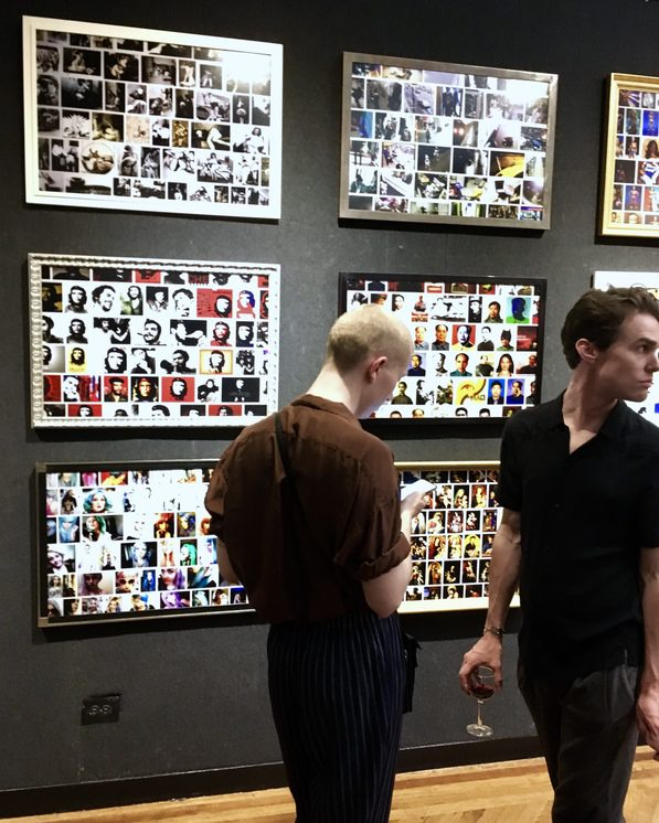 Attendees of Sam Linder Photo Exhibition