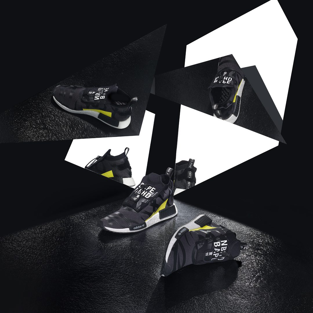 543bca255 The POD3.1 fuses modern BOOST cushioning with design details from the  decade that spawned both BAPE and NBHD, resulting in a perfect synthesis of  heritage ...