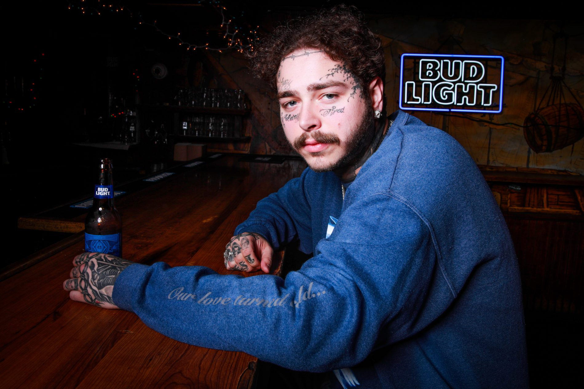 Post Malone Attended his Bud Light NYC Pop-Up Shop | The