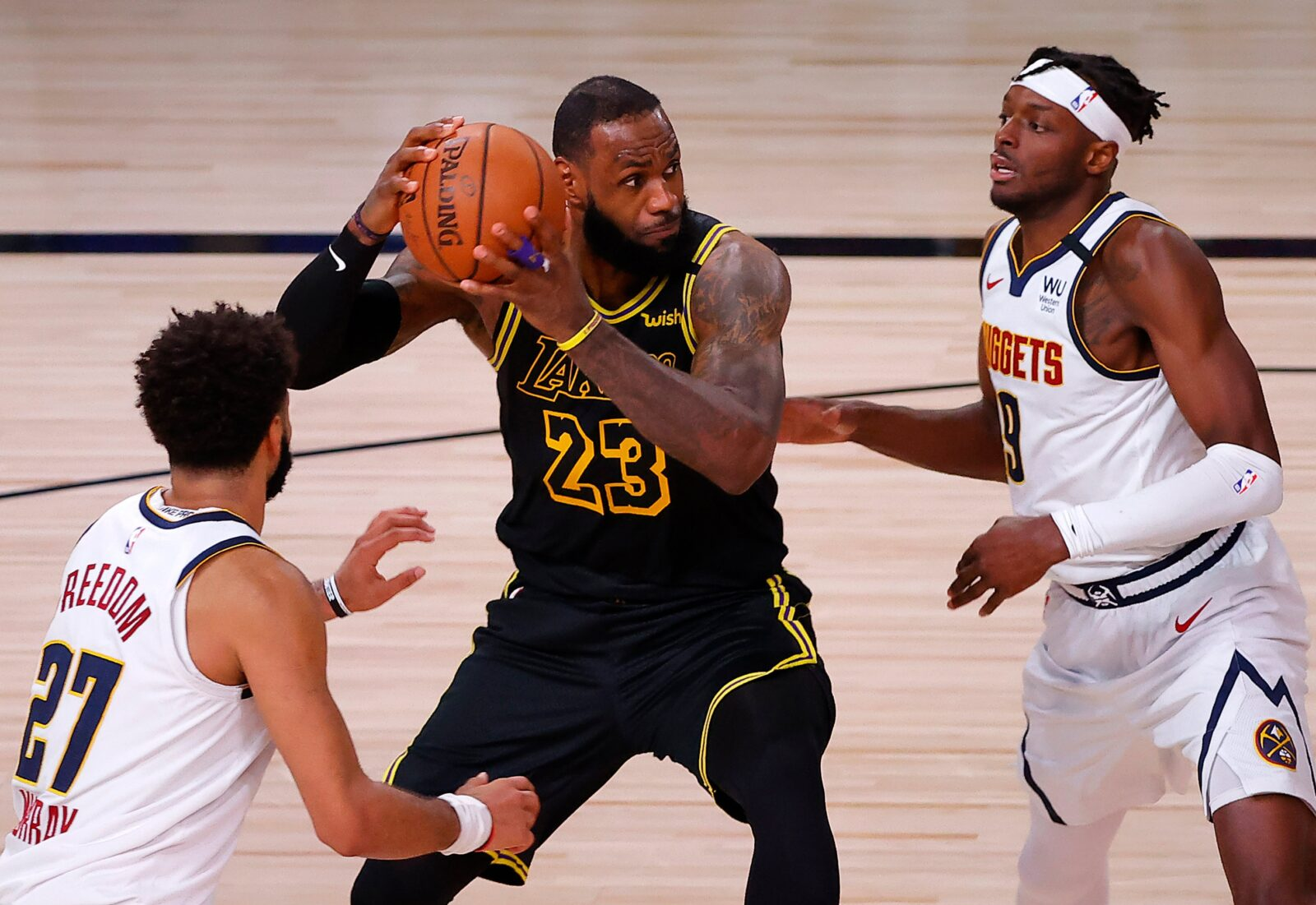 """alt=""""lebron james going strong against the nuggets"""""""