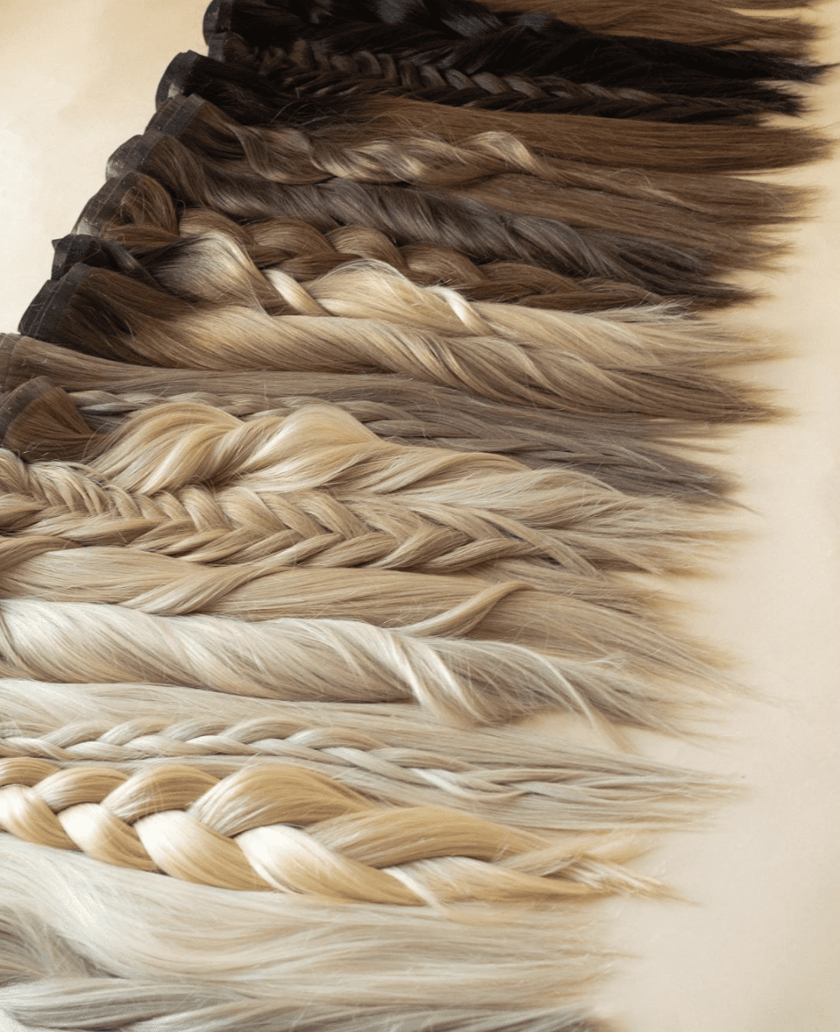 Photo of Barefoot Blonde Hair and all their extension colors