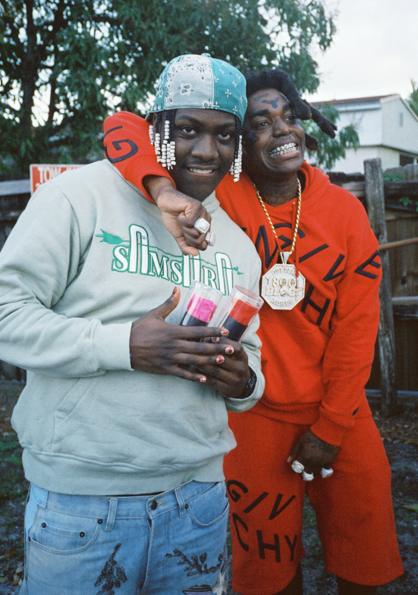 Lil Yachty and Kodak Black smile for the camera