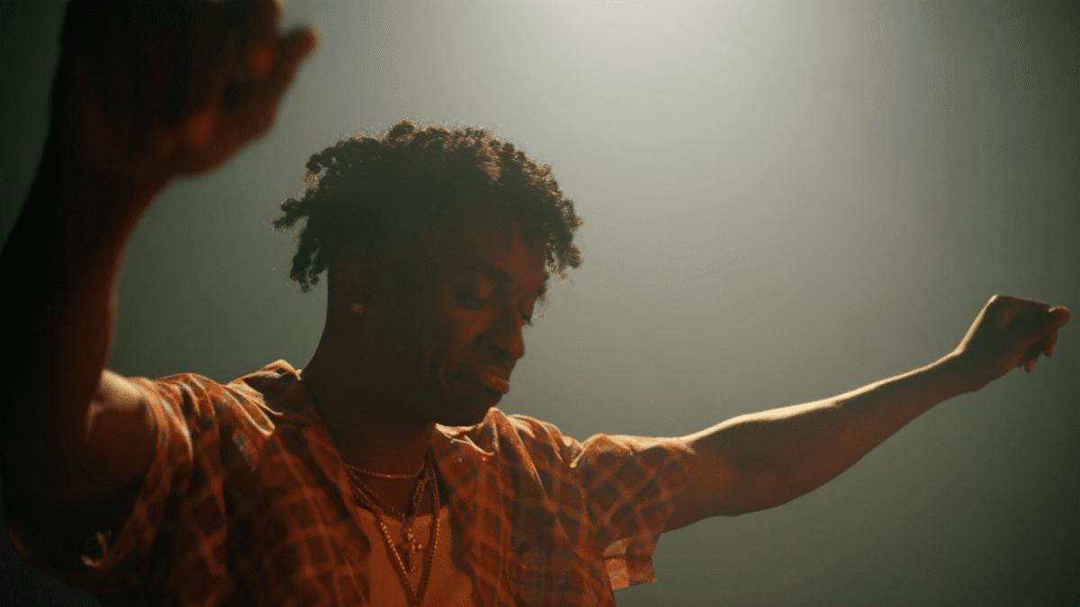Still of Mooski in Track Star music video