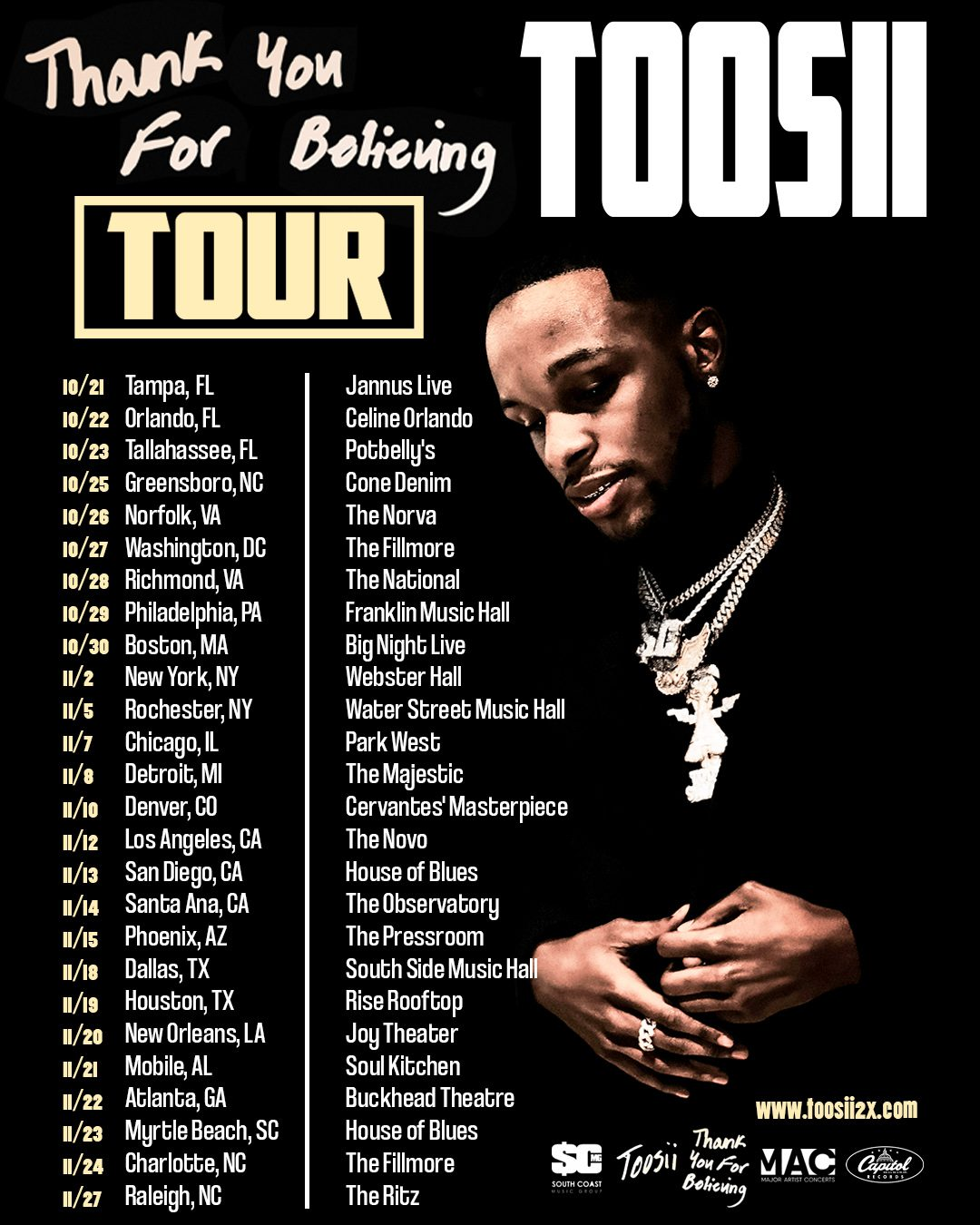 Thank You For Believing Tour Poster