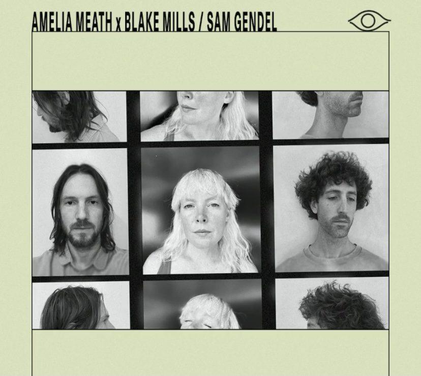 "Amelia Meath, Blake Mills, and Sam Gendel ""Neon Blue"" [cred: Instagram @psychichotline]"