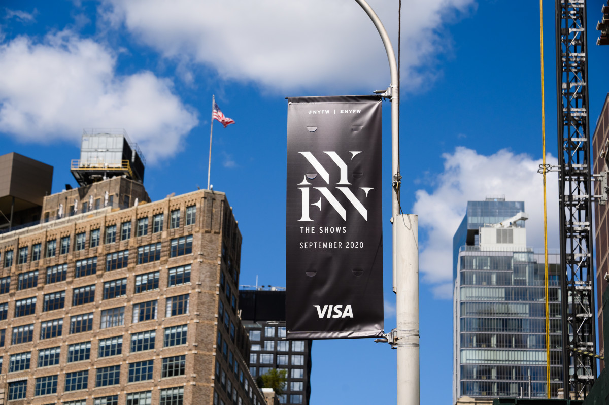 NYFW: The Shows banner waves near Spring Studios